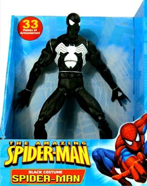Amazing Spider-Man 12 Inch Deluxe Action Figure Black Costume Spider-Man
