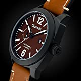 Gigandet Automatik Herren-Armbanduhr Red Baron III Fliegeruhr Uhr Datum Analog Braun Schwarz G16-001 - 5