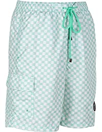 Sakkas Luca Checkered Patch Pocket Swim Trunk / Boardshort
