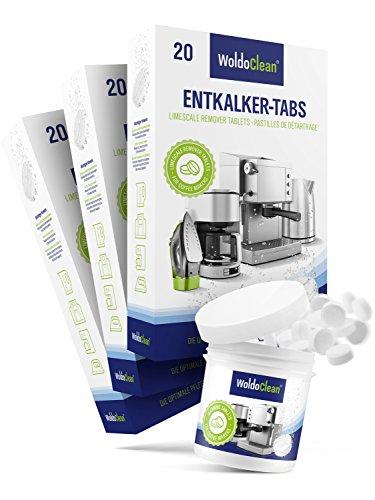 WoldoClean 60x Entkalker-Tabletten und 40x Reinigungstabletten für Kaffeevollautomaten