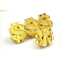 Tappo della valvola personalità con oro dollaro forma $ per Car Van Caravan camper