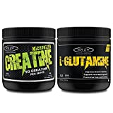 Sinew Nutrition Micronised Creatine Monohydrate - 300g and 100% Pure L-Glutamine Powder 330gm