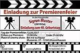 Einladungskarten zum Geburtstag als Filmklappe Film Kino Movie (20 Stück) Regisseur