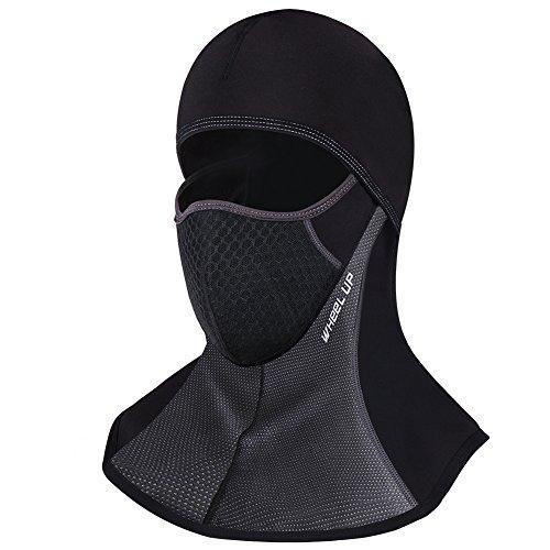 ROTTO Pasamontañas Moto Negro Impermeable Esquí Ciclismo Snowboard Máscara Facial de Deportes al Aire Libre Calentar a Prueba de Viento Tamaño Universal (Negro-A(con Cremallera))