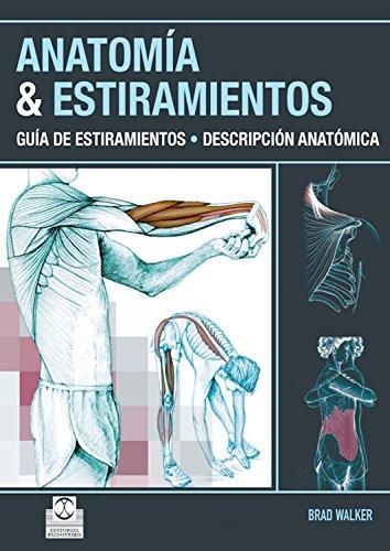 Anatomía & estiramientos: Guía de estiramientos. Descripción anatómica  (Color) (Deportes) por Brad Walker