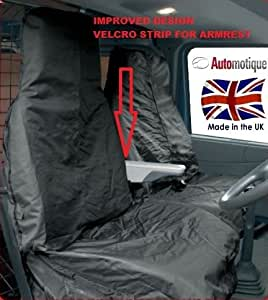 Automotique VAANWP182322528 Waterproof Van Seat Covers 2-1 Black
