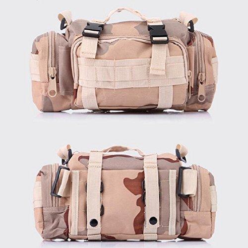 LF&F Backpack Camouflage multifunktionale militärische Fans Freizeitsportarten taktische Taschen Schulterkameras Rucksäcke Angriffspakete taktische Operationen Rucksacktaschen B