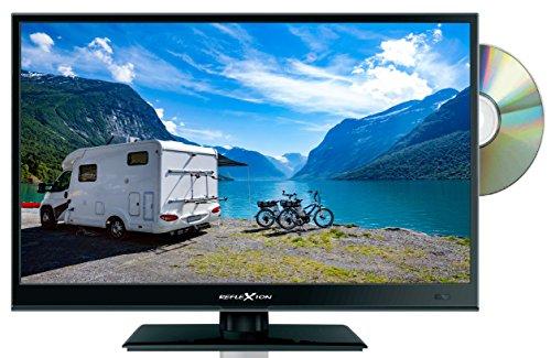 Reflexion LDD1671 39 cm (15,6 Zoll) LED-Fernseher mit DVD-Player, Triple-Tuner und 12 Volt Kfz-Adapter (HD Ready, HDMI, DVB-S / S2 / C / T2, USB, EPG, CI+, DVB-T Antenne) schwarz - Volt-computer-lautsprecher 12