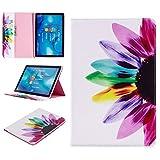 Tophung Huawei MediaPad M510.8custodia antiurto, custodia portafoglio in pelle PU con chiusura magnetica supporto per carta di credito contanti tasca copertura protettiva per Huawei MediaPad M527,4cm tablet