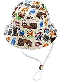 Y-BOA Bob Coton Chapeau de Soleil Protection Bébé Enfant Motif Animal Printemps