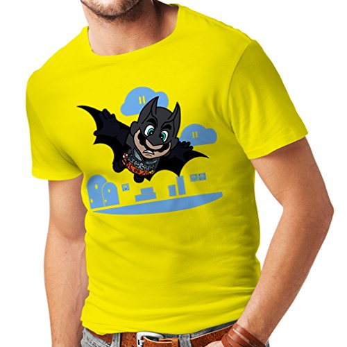 N4328 Männer T-Shirt Superheld ! (XX-Large Gelb Mehrfarben)
