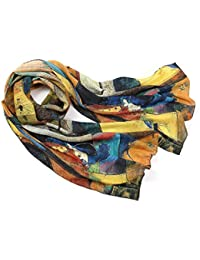d5a2c543c6f74 Prettystern - longue écharpe foulard en soie de l art de la peinture,  Kandinsky