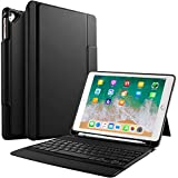IVSO Apple New IPad 9.7 '' Bluetooth Keyboard Case, Ultra-Thin Stand Keyboard Case With Pencil Slot For New IPad 9.7 2018/2017/iPad Pro 9.7/iPad Air 2/iPad Air Tablet (Black)
