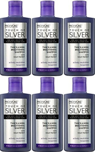 SIX PACKS of Touch Of Silver Twice A Week Brightening Shampoo 150ml by Touch Of Silver