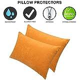 Dream Care Waterproof Pillow Protector, 18 x 28 inch, Set of 2, Golden