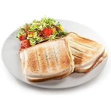 XL de Sandwich Tostadora para 2grandes Deliciosos muschelförmige sandwicht de Toast–2discos sandwichera con conchas Moldes–Fuerte 900W–Nuevo y original)
