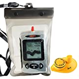 Lucky Wireless 45M Black Dot Matrix Fish Finder with Waterproof Bag