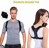 DOSMUNG Haltungskorrektur,Geradehalter zur Haltungskorrektur   Körperhaltung-Korrektor   Rückenstütze Rückenbandage   Sports Haltungstrainer Rücken Schulter für Damen und Herren Größenverstellbar -