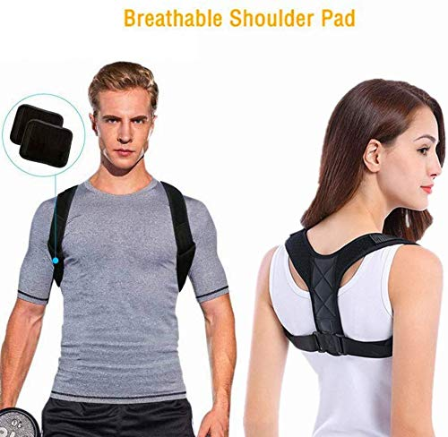 DOSMUNG Haltungskorrektur,Geradehalter zur Haltungskorrektur | Körperhaltung-Korrektor | Rückenstütze Rückenbandage | Sports Haltungstrainer Rücken Schulter für Damen und Herren Größenverstellbar