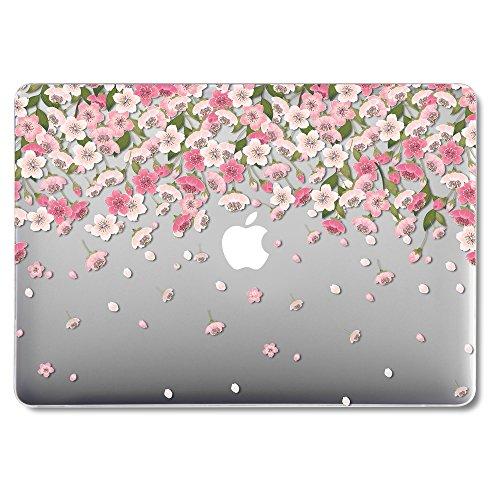GMYLE MacBook Air 13 Hülle - Hochwertige Matt Gummierte Hartschale Tasche Schutzhülle Snap Case für Apple MacBook Air 13.3 Zoll (A1466 / A1369), Floral Pattern