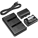 Canon LP-E6 & LP-E6N Batterie de 2-Pack RAVPower (Kit de Recharge et Batteries d'Appareil Photo 2000mAh, Charge Murale, Voiture et Power Bank, Protections de Sécurité, 100% Compatible avec l'originale) pour Canon EOS 5D Mark IV / 5D Mark III / 5DS / 5DS R / 5D Mark II / 6D / 7D Mark II / 7D / 80D / 70D / 60D / 60Da