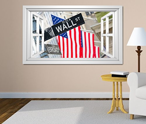 3d-wall-sticker-window-wall-street-usa-flag-new-york-sign-digital-printing-painting-tattoo-living-ro