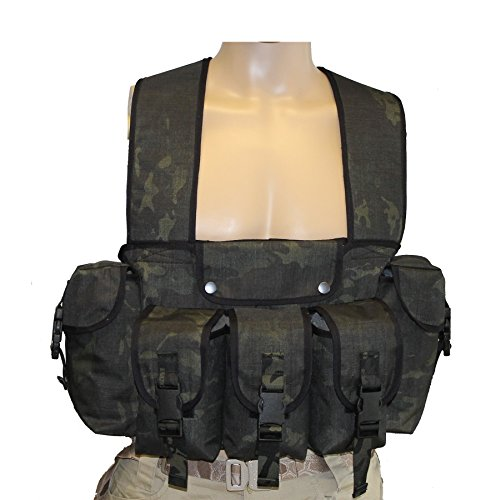 uKom Classic British Military Chest Rig - MultiCam Black