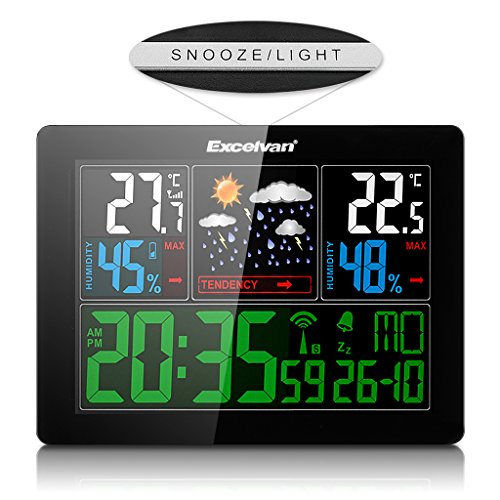 preisvergleich excelvan lcd funkwetterstation funkuhr thermometer willbilliger. Black Bedroom Furniture Sets. Home Design Ideas