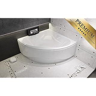 EXCLUSIVE LINE® Riho Neo eckbadewanne 150x150 cm mit Schürze - Füßen, Ablaufgarnitur, Silikon GRATIS
