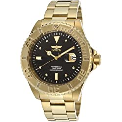Invicta Men's Pro Diver Quartz Watch with Analogue Display and Stainless Steel Bracelet