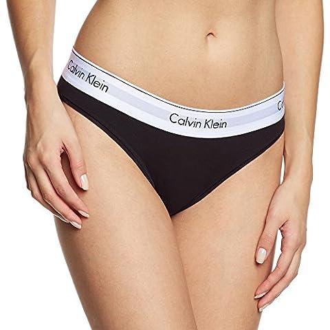 Calvin Klein Damen Slip MODERN COTTON - BIKINI, Einfarbig, Gr. 38 (Herstellergröße: M), Schwarz (BLACK (Klein Calvin)