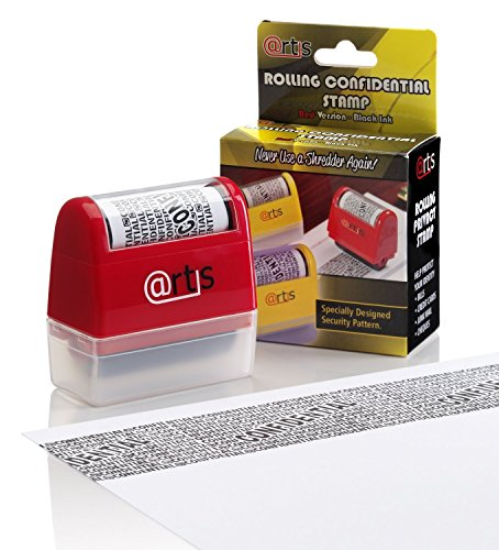 ID Protection Self Inking Stop Identity Theft Erase-It Hide Rolling Privacy Stamp Test