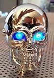 Led Skull Schaltknauf mit blauen Led Augen universell verwendbar für Fahrzeuge ohne RGA (Rückwärtsgangarretierung)