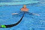 Schwimmtrainer | optimales Schwimmen ohne Gegenstromanlage | für jeden Pool geeignet | gepolsterter Schwimmgurt 70-150cm | Schwimmtube mit 9 - 20 kg Zugkraft | Sport und Spaß für die Familie | Made in Germany