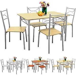 sitzgruppe f r esszimmer k che balkon 5 tlg 4 st hle. Black Bedroom Furniture Sets. Home Design Ideas