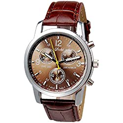 JACKY Mens Crocodile Faux Leather Analog Watches
