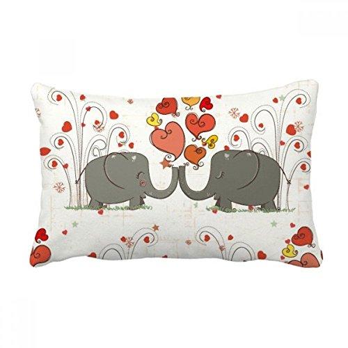 Diythinker grey kissing elefanti san valentino tiro lombare del cuscino inserire cuscino casa divano decor regalo