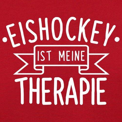 Eishockey ist meine Therapie - Herren T-Shirt - 13 Farben Rot