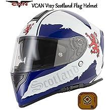 Motocicleta VCAN V127 bandera de Escocia casco integral para motocicleta Face graphic CEPE ACU Gold aprobado