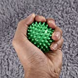 Dailyinshop PVC Spiky Massage Ball Fußschmerzen & Plantar Fasciitis Reliever Igel Ball (Farbe: Hellgrün) (Größe: 6cm)