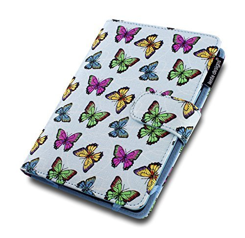 Damen Kindle, 15,2 cm, Paperwhite E-Reader Folio Schutzhülle mit Auto On Off in Floral & abstrakten Designs