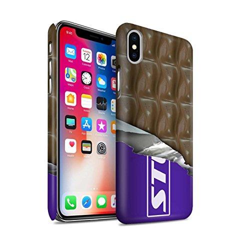STUFF4 Matte Snap-On Hülle / Case für Apple iPhone X/10 / Flocke Muster / Schokolade Kollektion Eingewickelt Galaxie