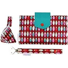 Filia & Filius Borsa fasciatoio Baby Set 3pezzi con borsa per pannolini tasca per ciuccio Ciuccio Band