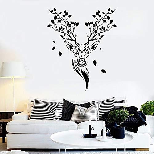58 * 69cm Succursale di alberi di cervi, ramo della natura Vinyl Wall Decal Home Decor Living Room Art Mural Rimodelable Wall Sticks