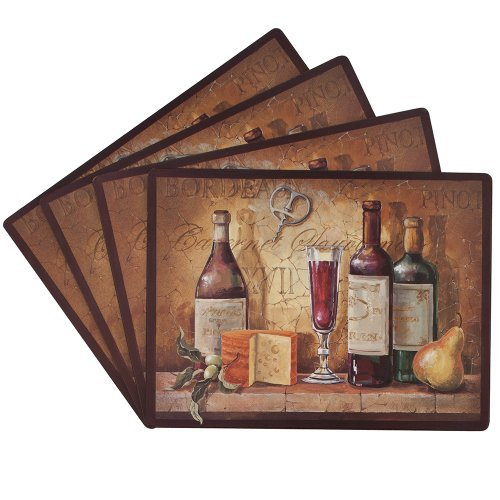 Preisvergleich Produktbild Benson Mills Bordeaux 100-Percent Cork Placemat, Set of 4 by Benson Mills