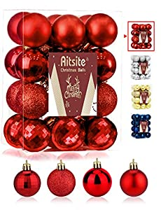 Aitsite 24PCS Bolas de Navidad