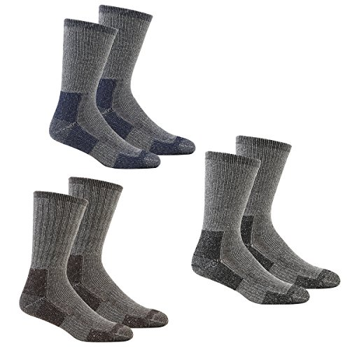 Men's Thick Work Socks 4/6/12 Pair Multipack Warm Thermal Cushioned Sole Ideal For Hiking