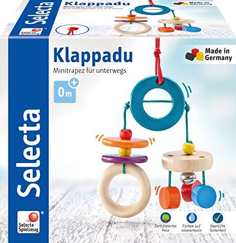 Selecta 61045 Klappadu, Minitrapez und Babyspielzeug, 19 cm