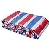 Kunststoff Dicke Farbe Streifen Tuch wasserdicht Plane regendichte staubdichte Plane, für Camping, Angeln, Garten & Haustiere (Größe : 6 * 10M)