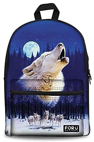 Pleine lune imprimer Sac à dos Backpacks FOR U DESIGNS Élégant Sac à dos Cartable Sac d'école Fille Garçon Fit Ordinateur Portable 15.6 pouces